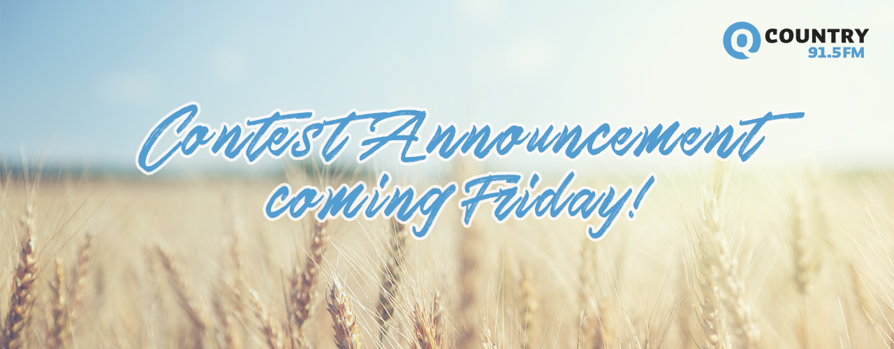 Contest Announcement Friday!