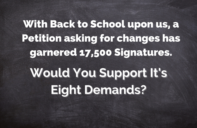 Would You Support These Eight Back To School Demands?