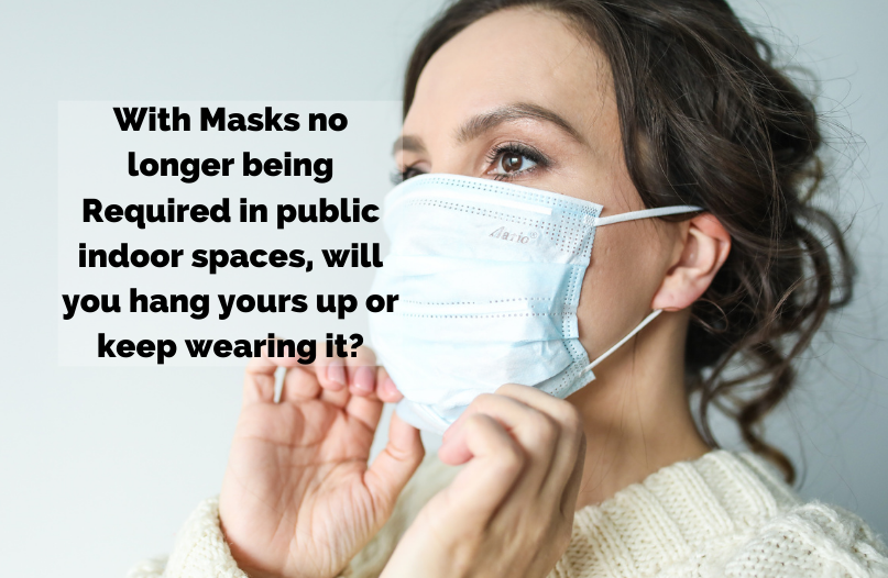 PMH Goes from Orange to Yellow Today, Masks will no longer be required in public indoor spaces in the region - will you keep wearing yours?
